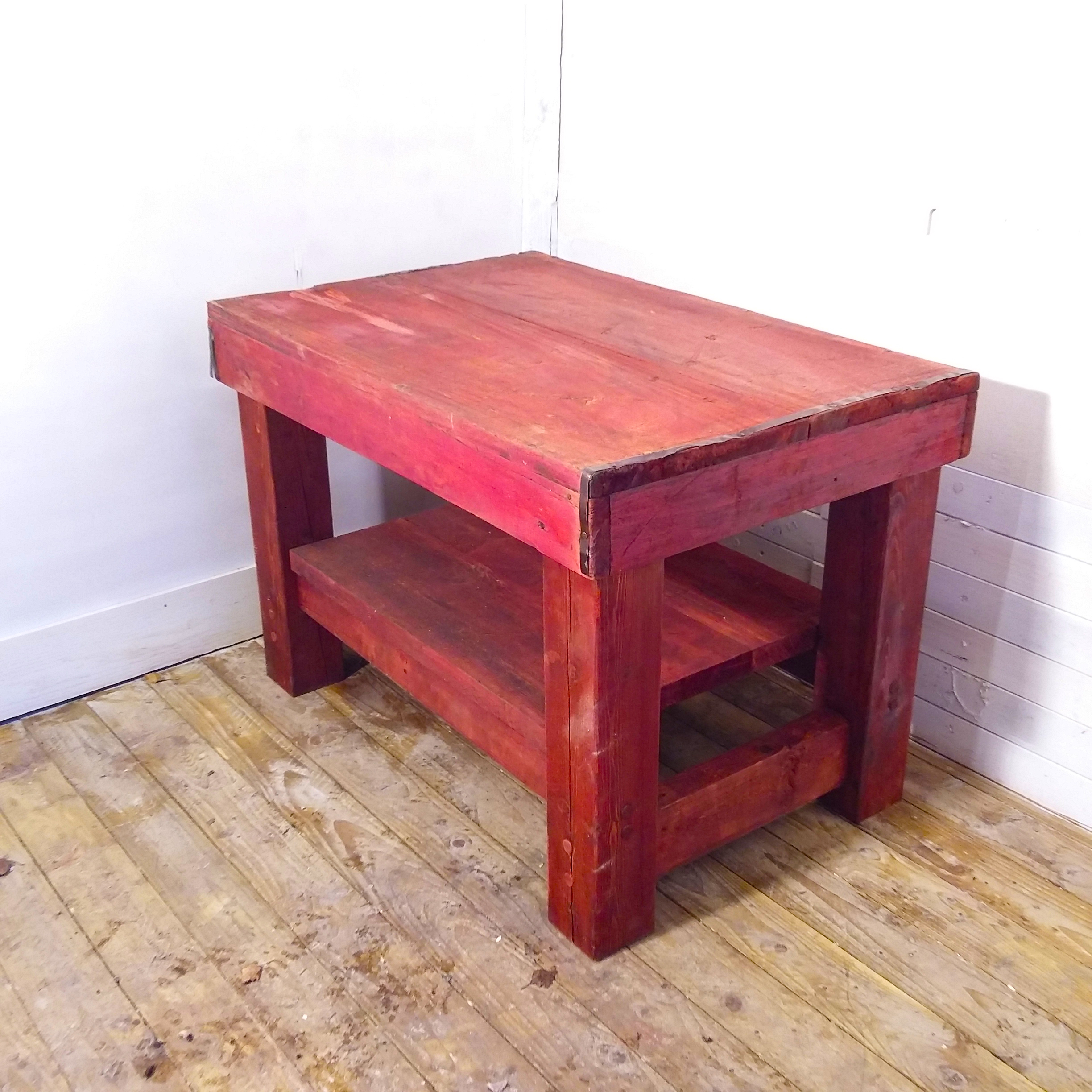 conservatively red coffee table upcycle fully fashioned findings