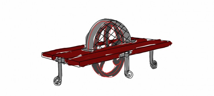 Concept Drawing Mobile Mangle Table