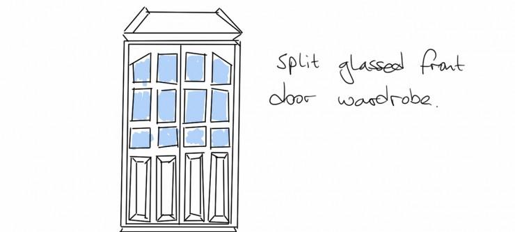 Concept Drawing Margarina's Front Door Wardrobe