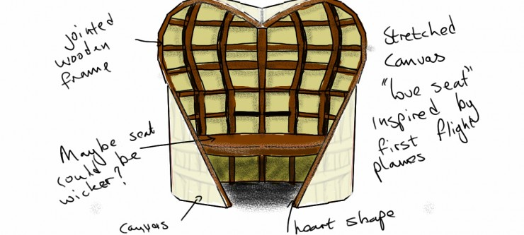 Love Seat concept drawing