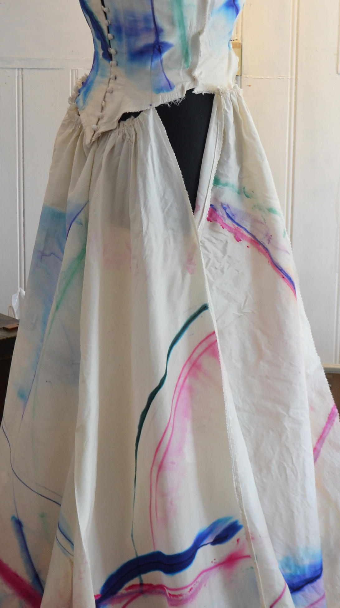 Dyed Wedding Dress week 4